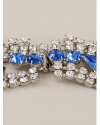 Tom Binns - Blue Crystal Drop Scalloped Necklace - Lyst