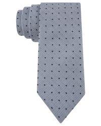 Calvin Klein | Metallic Indigo Spot Skinny Tie for Men | Lyst