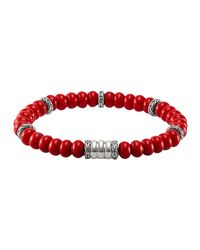 John Hardy | Pink Mens Bedeg Beaded Bracelet for Men | Lyst