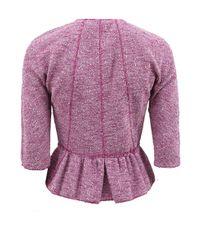 Nina Ricci Purple Two Pocket Peplum Tweed Jacket