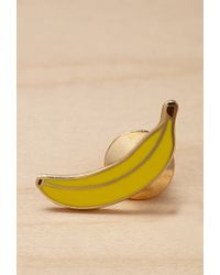 Forever 21 Yellow Greenwich Letterpress Enamel Banana Pin