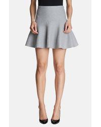 1.STATE - Gray Flippy Miniskirt - Lyst