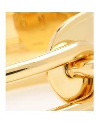 Balenciaga - Metallic Maillon Gold-tone Bracelet - Lyst
