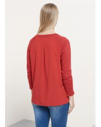 Violeta by Mango | Red Fine-knit Cotton Sweater | Lyst