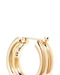 St. John | Metallic Twin Tubular Earrings | Lyst