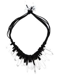 Monies | Black Large Pendants Necklace | Lyst