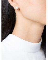 Maison Margiela - Metallic Loop And Pearl Earrings - Lyst