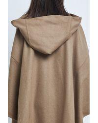 Carolina Ritzler | Brown 60's Beige Oversize Cape | Lyst