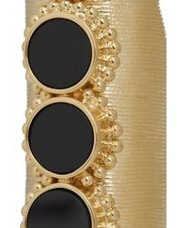 Chloé - Black Gold-Tone Onyx Ring - Lyst
