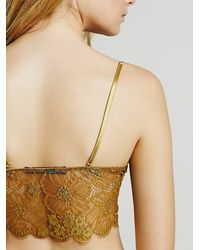 Free People | Metallic Skivvies By For Love & Lemons Womens Honeysuckle Bralette | Lyst