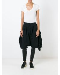 R13 Black Tied Shirt Short And Legging Combo