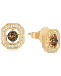 Le Vian | Metallic Chocolatier® Chocolate Deco Estate™ Gold Diamond (1/4 Ct. T.w.) Stud Earrings In 14k Gold | Lyst