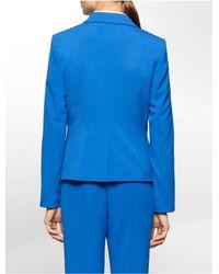 Calvin Klein - Blue Luxe Buckle Closure Suit Jacket - Lyst