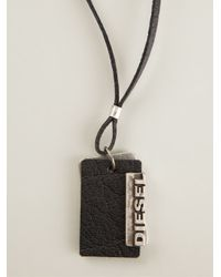 DIESEL | Black 'Alory' Tag Necklace for Men | Lyst