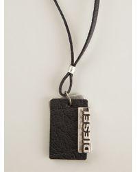 DIESEL | Black 'Alory' Tag Necklace for Men | Lyst