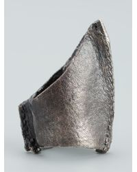 Alice Waese Metallic Tall Cast Ring for men