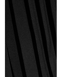 Tibi - Black Simone Pleated Silk Culottes - Lyst