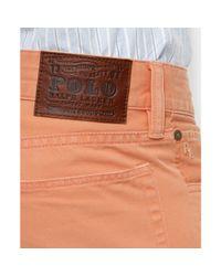 Ralph Lauren - Orange Straight Fit Five Pocket Chinos for Men - Lyst