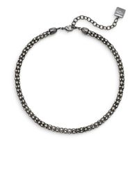 Anne Klein - Gray Fair Lady Tube Necklace - Lyst
