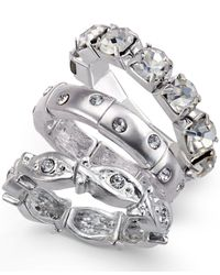 Style & Co. | Metallic Silver-tone Crystal Accent Ring Set | Lyst