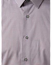 Lanvin - Black Micro Check Shirt for Men - Lyst