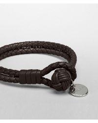 Bottega Veneta Brown Ebano Intrecciato Nappa Bracelet for men