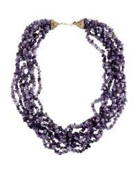 Kenneth Jay Lane - Purple Necklace - Lyst