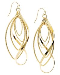 INC International Concepts | Metallic Gold-tone Twist Earrings | Lyst