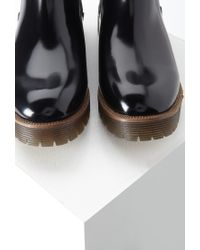 Forever 21 Black Faux Patent Leather Boots