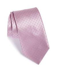 Brioni - Purple Polka Dot Silk Tie for Men - Lyst