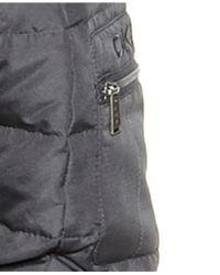 DKNY Gray Petite Hooded Faux-Fur-Trim Maxi Down Puffer Coat