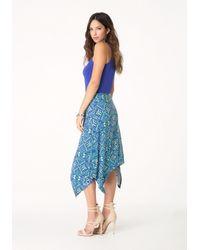 Bebe Blue Logo Handkerchief Dress