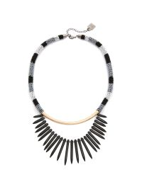 Adia Kibur | Avery Necklace - Black/gold | Lyst