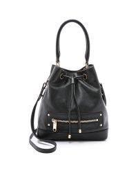 MILLY - Riley Bucket Bag - Black - Lyst