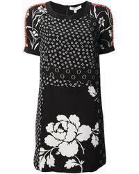 Elizabeth and James Black Beaded Floral Dress