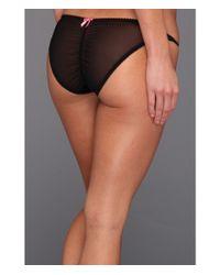 Betsey Johnson Black Animal Magnetism Slinky Knit String Bikini 721834