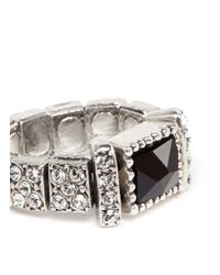 Philippe Audibert | Metallic Barbara Square Stone Ring | Lyst