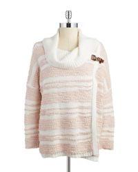Calvin Klein Pink Cowlneck Wrap Sweater