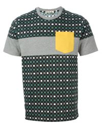 Marni - Gray Contrast Chest Pocket T-Shirt for Men - Lyst