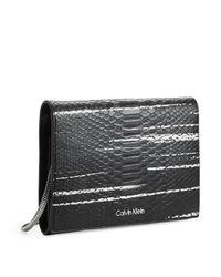 Calvin Klein - Black White Label Madeline Snake Metro Swing Bag - Lyst