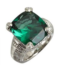 Judith Ripka | Green Quartz and Silver Large Fontaine Ring | Lyst