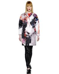 MSGM - Multicolor Oversized Printed Techno Duchess Coat - Lyst