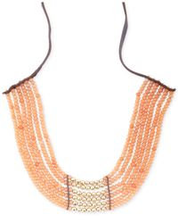 Lucky Brand | Metallic Gold-Tone Carnelian Collar Necklace | Lyst