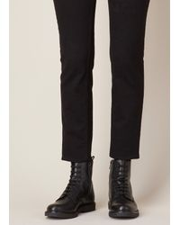Common Projects Black Leather Combat Boot