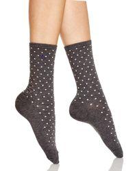 Ralph Lauren Gray Medium Pindot Trouser Socks