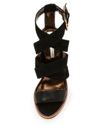 Twelfth Street Cynthia Vincent - Black Alisa Strappy Sandals - Lyst