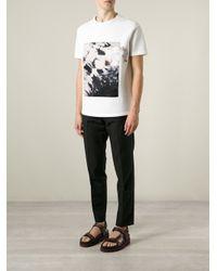 Iceberg - White Rose Photo T-Shirt for Men - Lyst