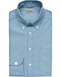 Boglioli | Oxford Single-cuff French Cotton Shirt, Men's, Size: 16, Blue for Men | Lyst