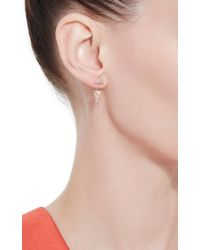 Fallon | Pink Rose Gold Sinead Pyramid Convertible Earrings | Lyst
