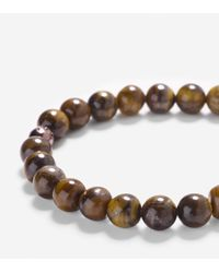 Cole Haan - Brown 8mm Bead Bracelet With Bead Closure - Lyst
